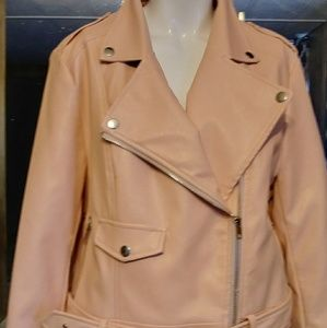Missguided motto jacket blush pink